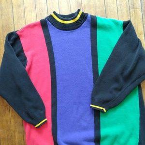 VTG Liz Claiborne Color Block Sweater K